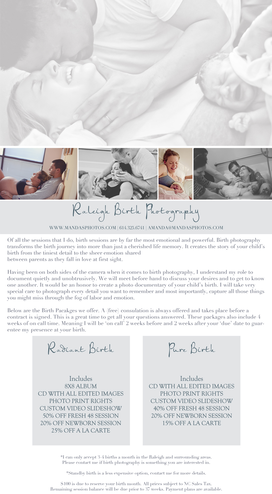 Raleigh Birth Photography Session | Manda\'s Memories Photography ...